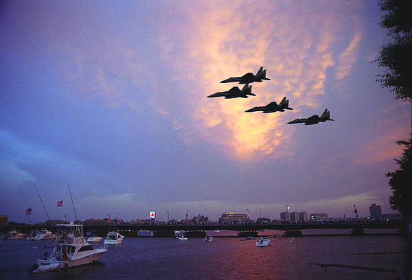 Boston Photograph - Fighter Jets Over Boston by Rose Martin