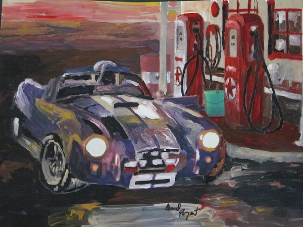 Ford Painting - Fill Er Up by David Poyant Paintings