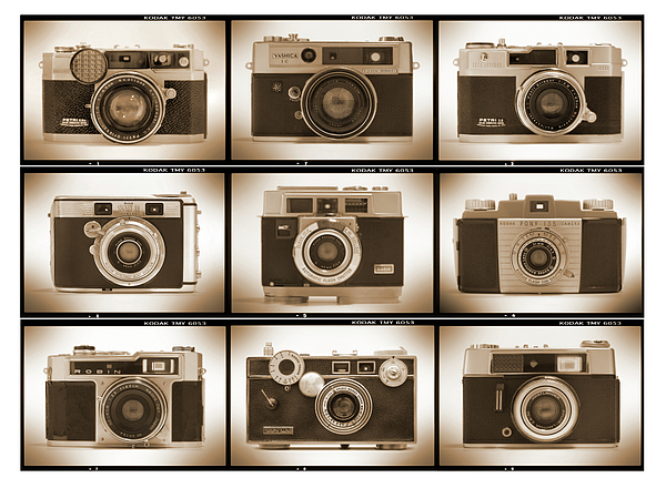 Vintage Cameras Photograph - Film Camera Proofs 2 by Mike McGlothlen