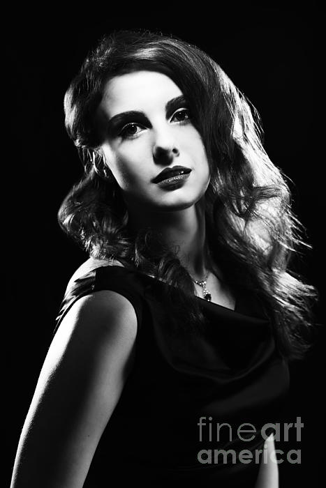 film noir woman photograph by amanda elwell