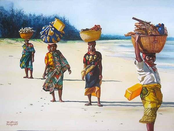 Mocambique Painting - Fim Do Mundo by Tim Johnson