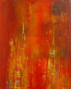 Gallery Wrap Painting - Fire - South by Alex Mariquit