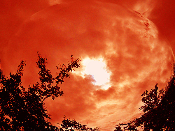 Landscape Photograph - Fire Ball by Russ Mullen