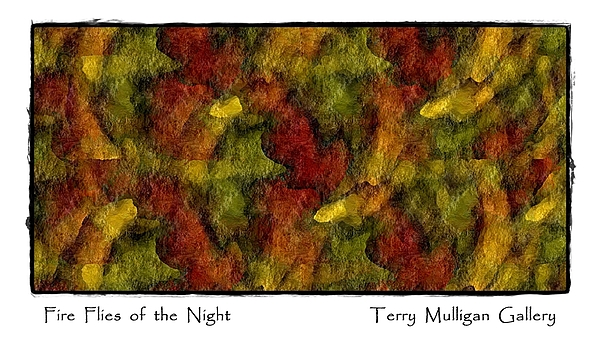 Fire Digital Art - Fire Flies Of The Night by Terry Mulligan