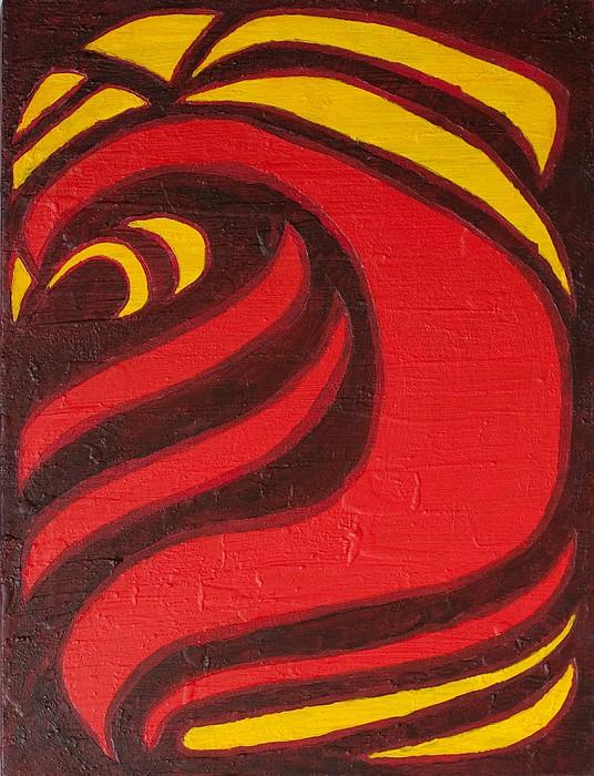 Acrylic Mixed Media - Fire by Joseph Bradley
