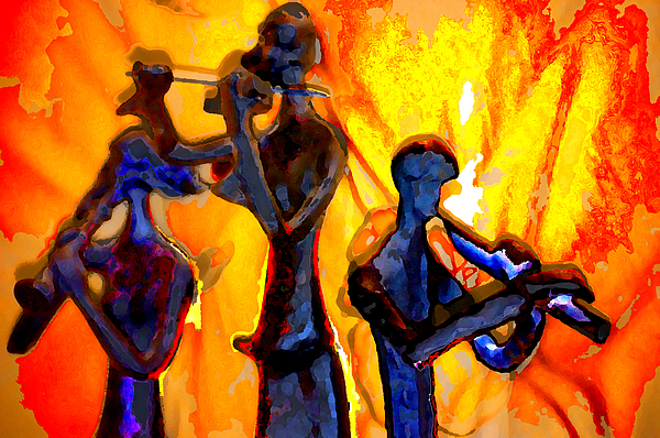 Music Photograph - Fire Music by Danielle Stephenson