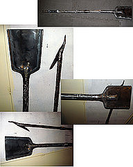 Steel Sculpture - Fire Place Tools by Don Thibodeaux