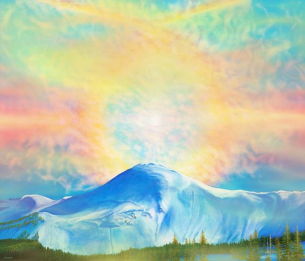 Wolf Creek Painting - Fire Rainbow Over Alberta Peak Wolf Creek Colorado by Anastasia Savage Ealy