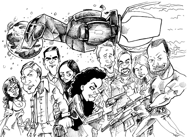 Firefly Drawing - Firefly by Big Mike Roate