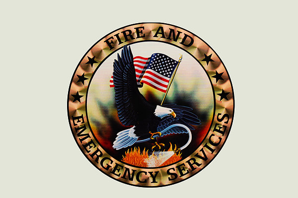 Fireman Photograph - Fireman - Fire And Emergency Services Seal by Paul Ward