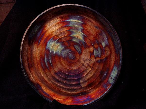 Raku Ceramic Art - Firestorm by Jude  Winchester