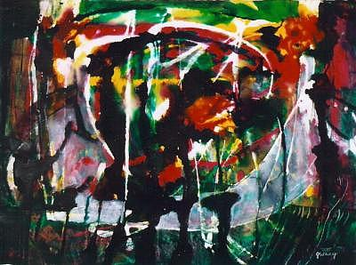 Firework Painting - Firework On The Bayou by Jerry Wray