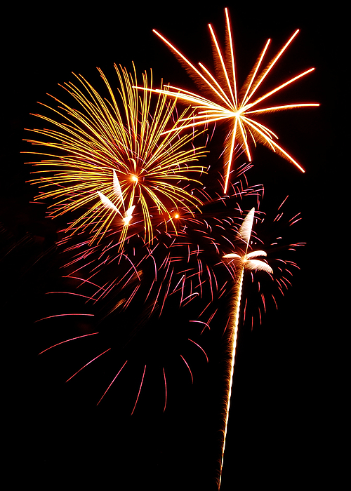 Fireworks Photograph - Fireworks 1 by Michael Peychich