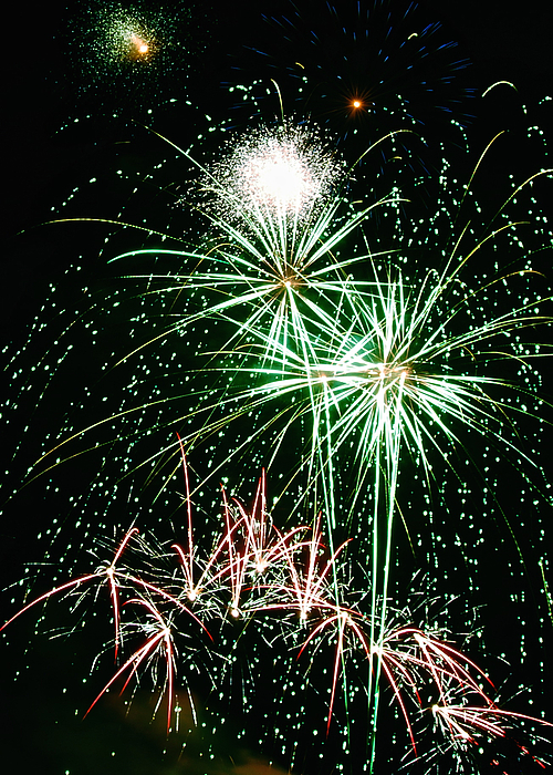 Fireworks Photograph - Fireworks 4 by Michael Peychich