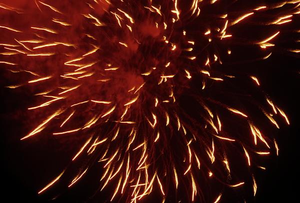 Bastille Day Photograph - Fireworks Light Up The Sky While Celebrating Bastille Day by Sami Sarkis