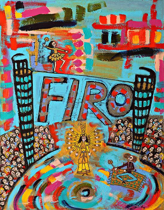 Dancer Painting - Firo The Dancer by Maggis Art