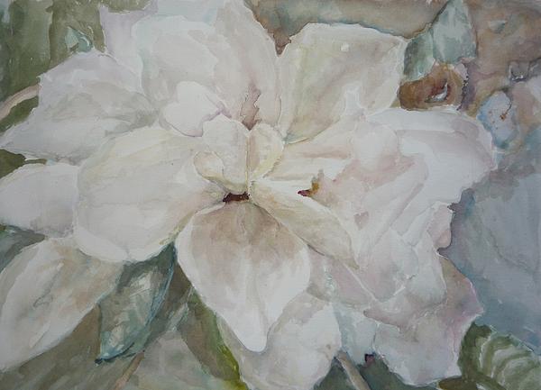 Gardenia Painting - First Gardenia by Dorothy Herron