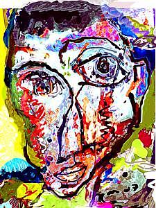 Portrait Mixed Media - First Impression by Noredin Morgan