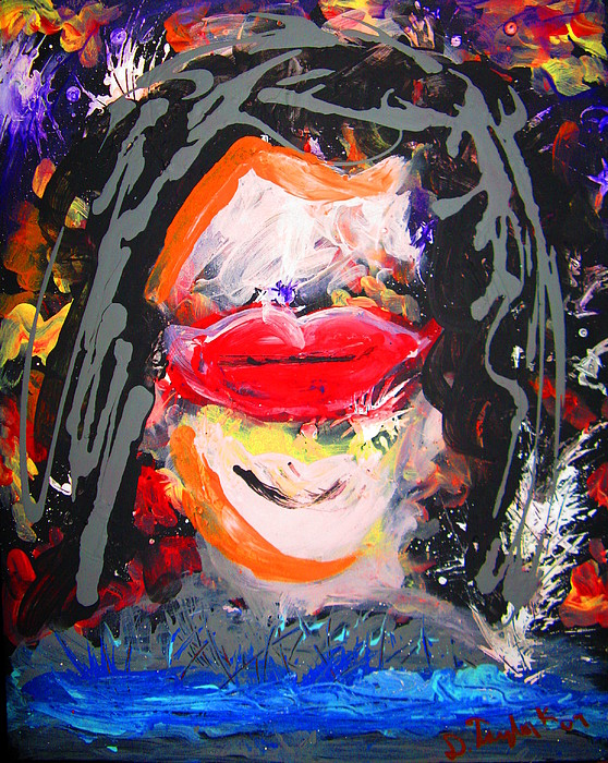 Portrait Painting - First Kiss by Darryl  Kravitz