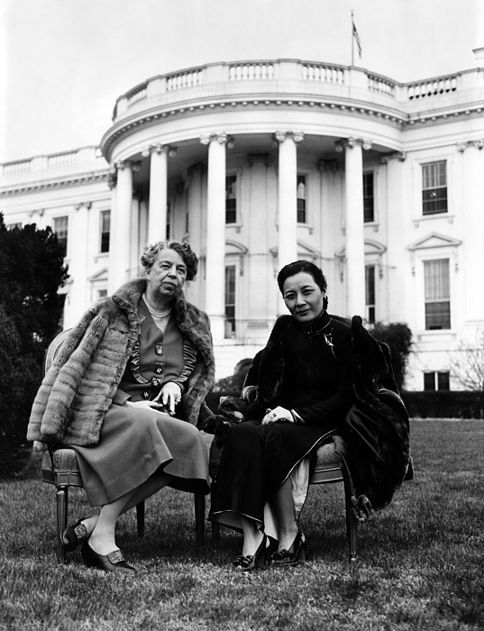1940s Photograph - First Lady Eleanor Roosevelt, And Wife by Everett