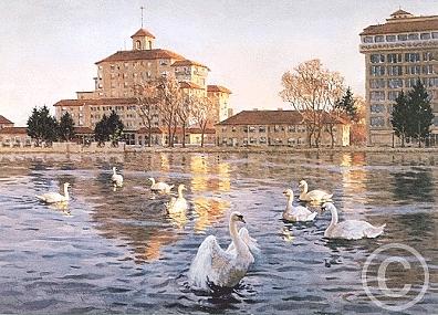 First Light - Broadmoor Digital Art by Joseph Bohler