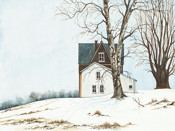 Washington Painting - First Snow by Linda Hoover