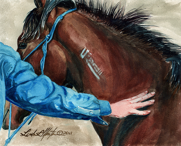 Fort Collins Painting - First Touch by Linda L Martin