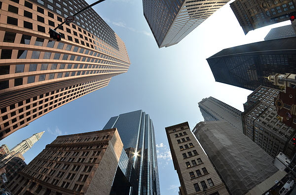 Horizontal Photograph - Fish-eye Lens Of Building by Robin Houde photography