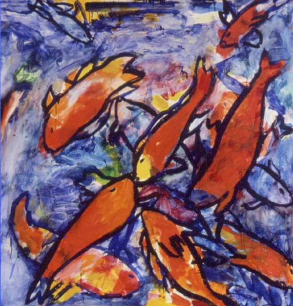 Fishes Painting by Nina Talbot