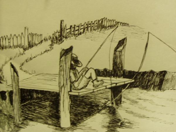 Louisiana Drawing - Fishin Fever by John  Labbe