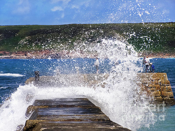 Sennen Cove Photograph - Fishing Beyond The Surf by Terri Waters