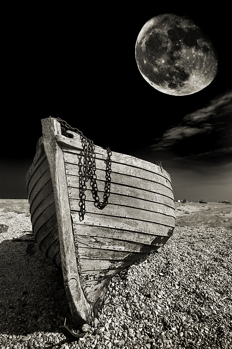 Moody Photograph - Fishing Boat Graveyard 3 by Meirion Matthias