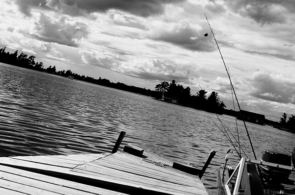 Fishing Photograph - Fishing In Black And White by Emily Stauring
