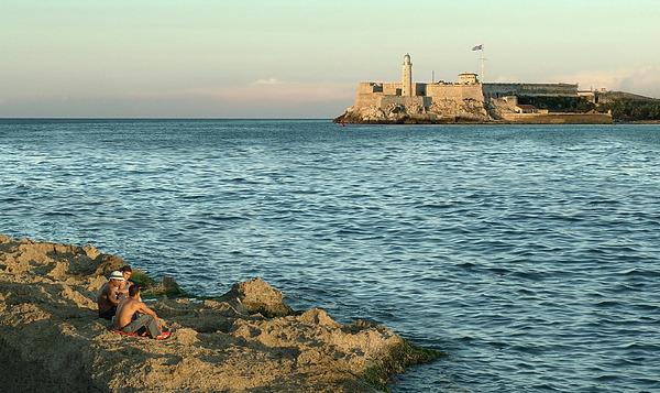Havana Photograph - Fishing In Havana by Mario Romero Orta
