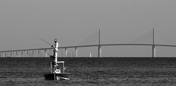 Digital Photograph - Fishing Tampa Bay 08 040705 by Richard Porter