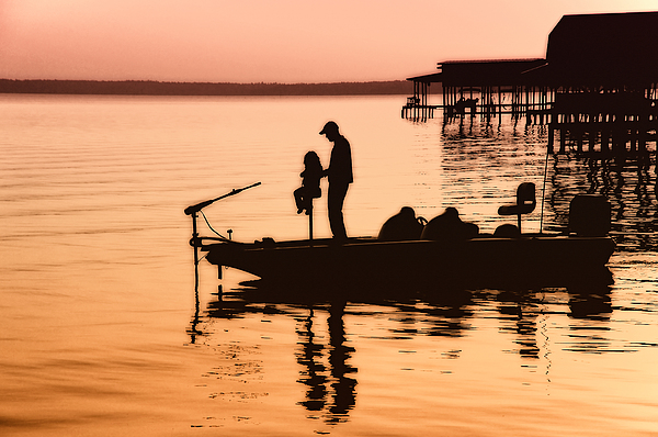 Fishing Photograph - Fishing With Daddy by Bonnie Barry