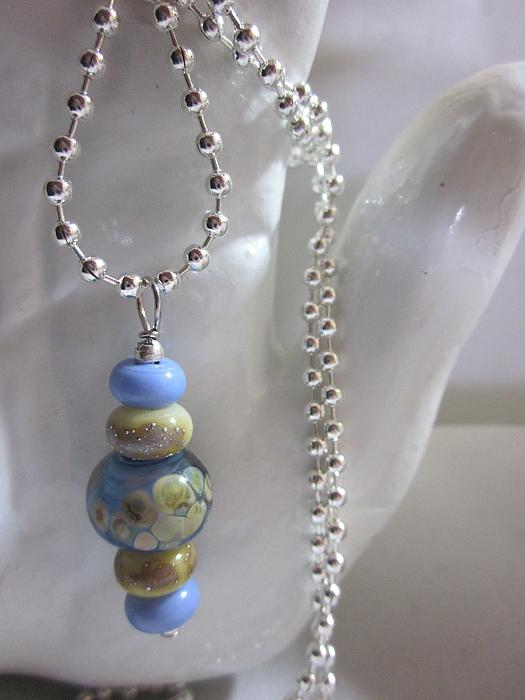 Handmade Lampwork Beads Jewelry - Five Bead Necklace by Janet  Telander