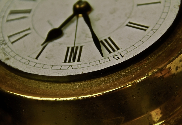 Clock Photograph - Five Sixteen Twenty by Odd Jeppesen