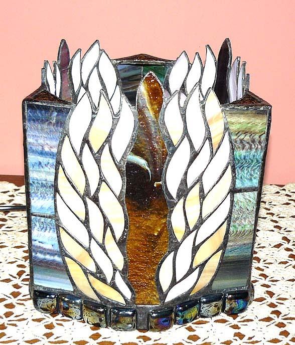 Glass Glass Art - Flame Lamp by Greg Gierlowski