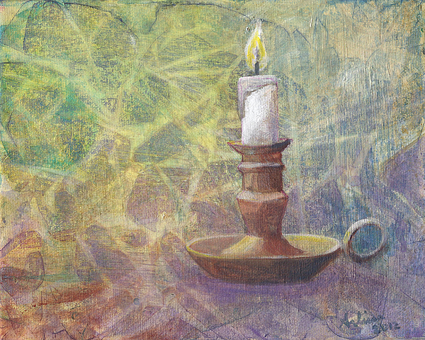 Candle Painting - Flame Of Hope by Arlissa Vaughn