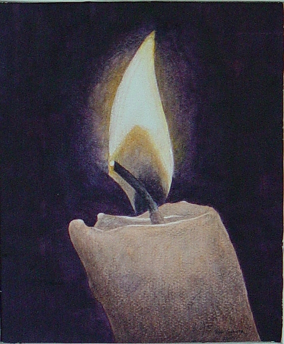 Flame Painting - Flame by Ron Sylvia