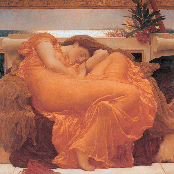 Flaming Painting - Flaming June - 1895 by Lord Frederic Leighton