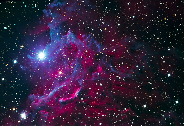 Stars Photograph - Flaming Star Nebula by Jim DeLillo