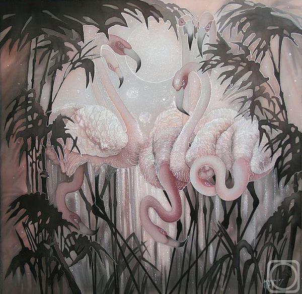 Impressionism Painting - flamingo by  Sokolova Nadezhda