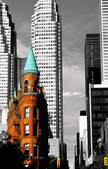 Architecture Photograph - Flat Iron Building Toronto by John  Bartosik