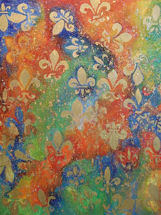 Fleur De Lis Painting - Fleur De Arcencial by Made by Marley
