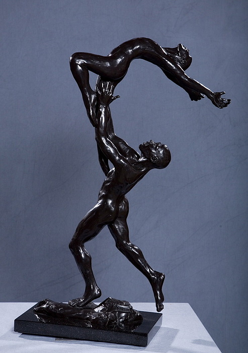 Male And Female Sculpture - Flight by Dan Earle