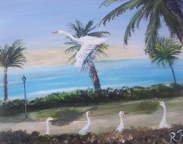 Florida Painting - Flight Run Way by Richard Finnell
