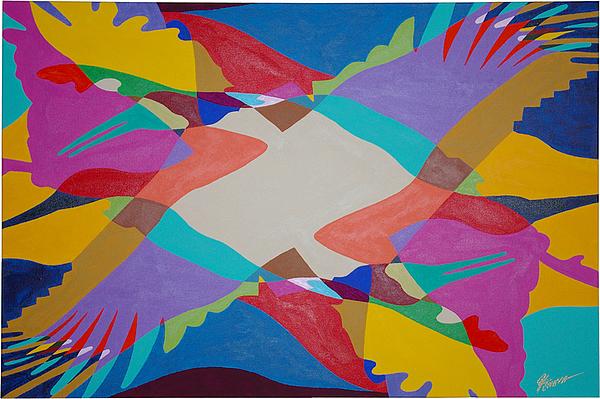 Birds Painting - Flock Of Wings by Guadalupe Herrera