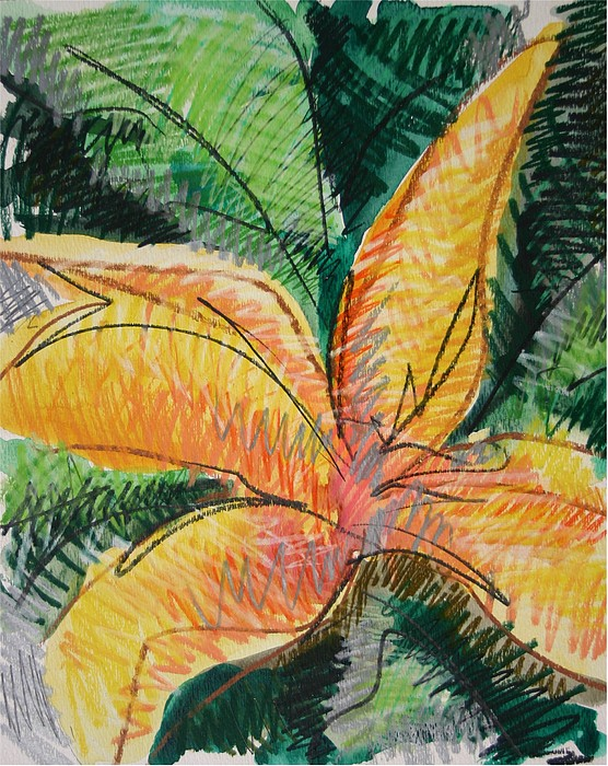Lily Painting - Flora Exotica 2 by Dodd Holsapple